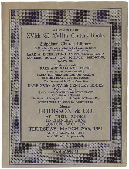 File:Hodgson and Co. A catalogue of the XVth & XVIIth century books. 1950-1951.jpg