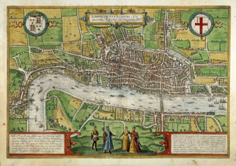 Map Of London 1600.Open City London 1500 1700 Exhibition Material Folgerpedia