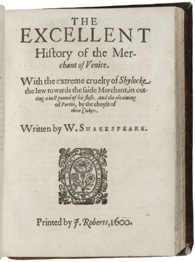 Shakespeare Merchant STC 22297 Copy 3 title page.jpg