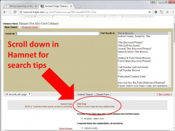 Hamnet Basic Search - brief help visible.JPG