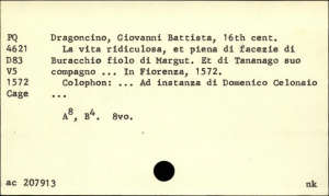 An example of a catalogue card. | download scientific diagram.